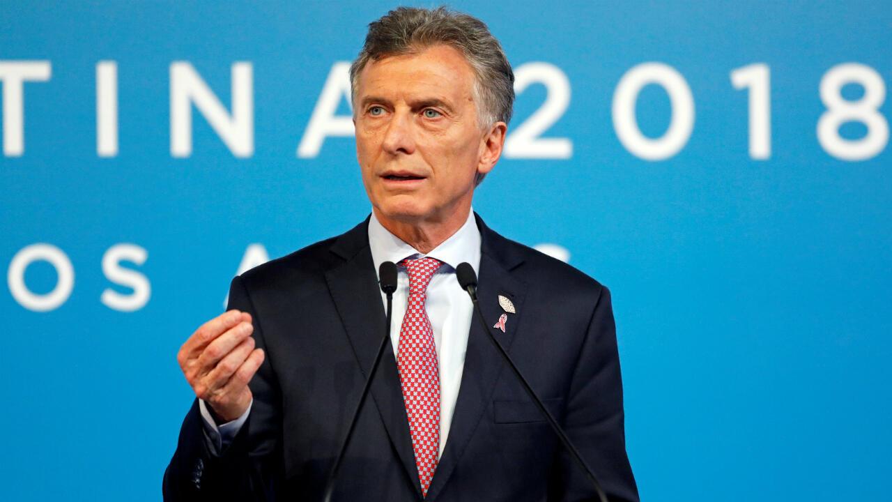 Archivo: Mauricio Macri se dirige a la prensa el útlimo día de la cumbre G20 el 1 de diciembre de 2018 en Buenos Aires, Argentina