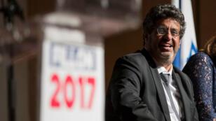 Meyer Habib lors d'un meeting de François Fillon à Tel Aviv le 20 avril 2017.
