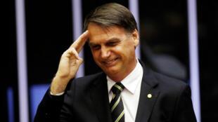 El presidente electo de Brasil, Jair Bolsonaro, durante una sesión del Parlamento. Brasilia, Brasil, el 6 de noviembre de 2016.