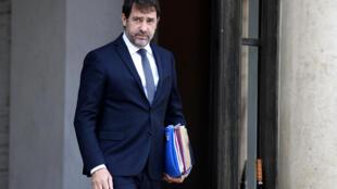 Le ministre de l'Intérieur Christophe Castaner quitte l'Elysée, le 13 mai 2020 à Paris