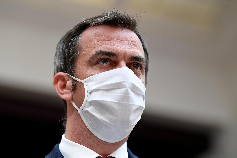 """Le ministre de la Santé Olivier Véran lors de la session de clôture du """"Ségur de la santé"""", le 21 juillet 2020, à Paris."""
