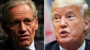 ترامب في البيت الأبيض في آب/أغسطس، والصحافي الأمريكي الشهير بوب ودوورد في تموز/يوليو 2012