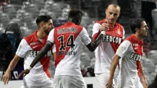 L'équipe de football de l'AS Monaco lors d'un match contre Toulouse, le 5 décembre 2014.