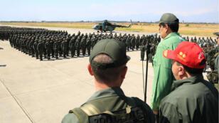 Le 29 janvier 2019, Nicolás Maduro s'était exprimé devant des militaires, dans l'État de l'Aragua.