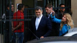 Gianfranco Macri, el hermano del presidente de Argentina, Mauricio Macri, sale del juzgado después de testificar en Argentina, Buenos Aires