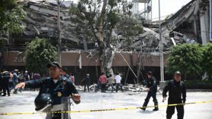 Certains bâtiments de Mexico ont subi d'importants dégâts lors du séisme de magnitude 7,1, mardi 19 septembre 2017.