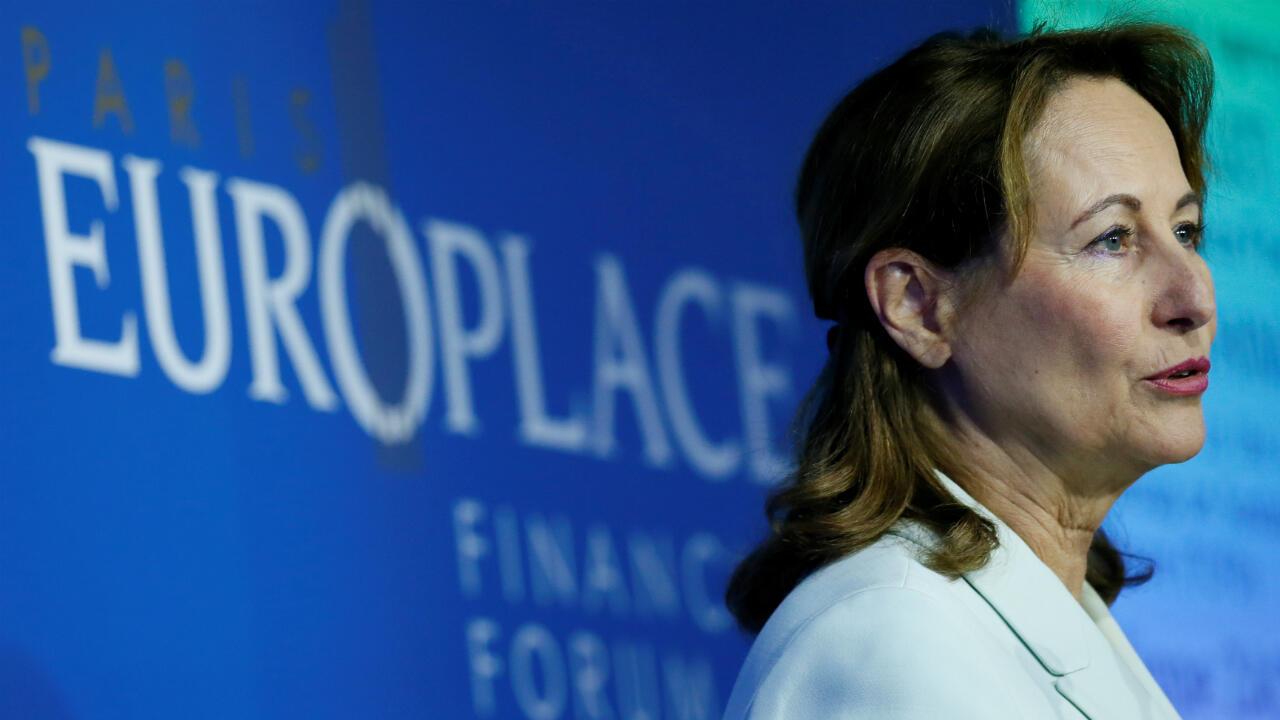 Segolene Royal france paris europlace international financial forum