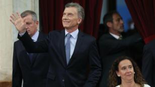 El presidente de Argentina, Mauricio Macri, durante el último discurso de su mandato ante el Congreso en Buenos Aires en 1 de marzo de 2019.
