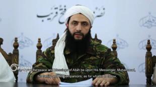 Capture d'écran montrant Abou Mohamed al-Joulani, le leader du Front al-Nosra, dans un communiqué vidéo annonçant la rupture du groupe avec Al-Qaïda.