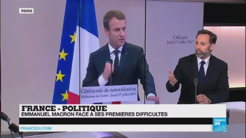 """Baisse des APL, """"hotspots"""" en Libye... Macron face à ses premières difficultés - France 24"""