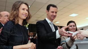 Asma al-Assad, épouse du président syrien, Bachar al-Assad.