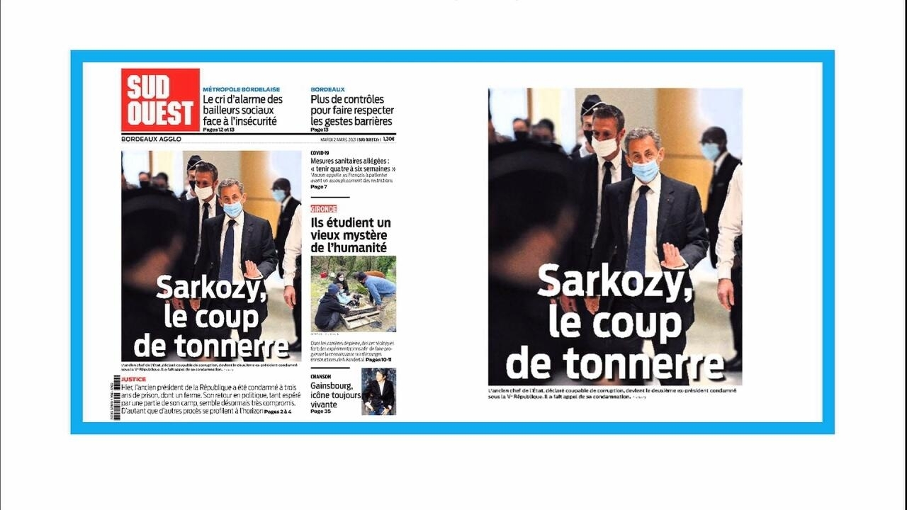 In the press - 'A thunderbolt': French papers react to corruption conviction of Nicolas Sarkozy