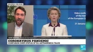 2021-01-27 13:01 Coronavirus pandemic: Confusion over AstraZeneca-EU talks on vaccine delay