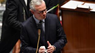 Le ministre de l'Economie Bruno Le Maire, à l'Assemblée nationale le 29 septembre 2020