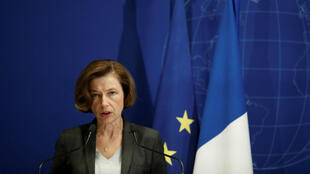 French Defence Minister Florence Parly addresses the press after news of Monday's helicopter crash, in which 13 French soldiers were killed.