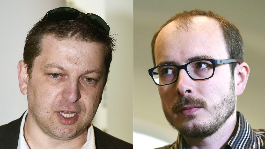 Raphaël Halet et Antoine Deltour, les deux lanceurs d'alerte à l'origine des révélations du scandale LuxLeaks.