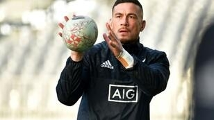 New Zealand's Sonny Bill Williams, pictured June 2018, has had little rugby recently but will likely take the field in the second half of the All Blacks' upcoming fourth-round Rugby Championship match