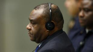 L'ancien vice-président congolais Jean-Pierre Bemba dans la salle d'audience de la CPI, le 21 mars 2016.