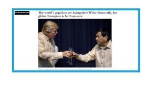Le président des Etats-Unis Donald Trump et le président des Philippines Rodrigo Duterte