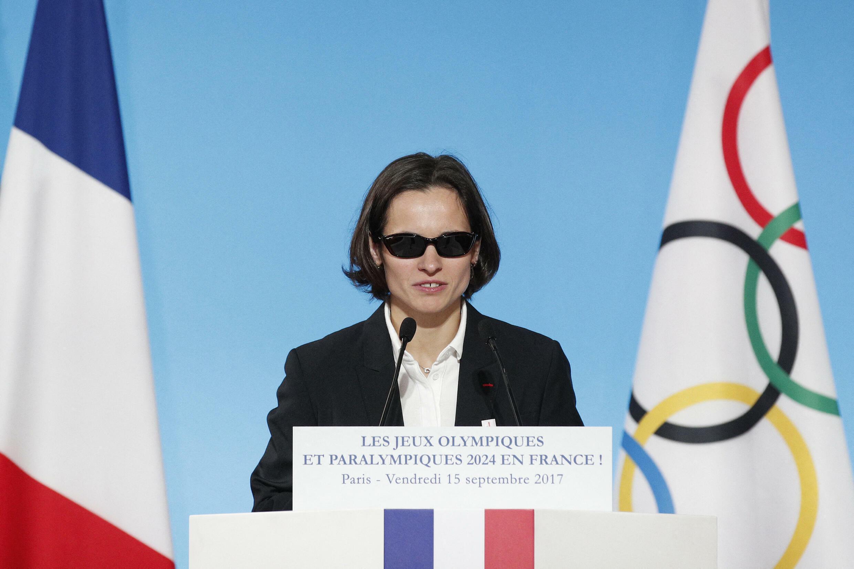 Sandrine Martinet lors d'une cérémonie à l'Élysée pour célébrer l'organisation des Jeux olympiques et paralympiques de 2024, le 15 septembre 2017.