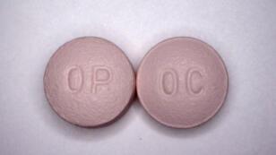 Des pilules d'OxyContin, un médicament analgésique contenant de l'oxycodone, un opiacé.