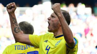 La Suède s'est imposée sur un penalty accordé grâce à la VAR.