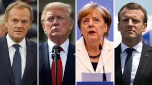 Tusk, Trum, Merkel y Macron coinciden en respaldar al gobierno de Mariano Rajoy.
