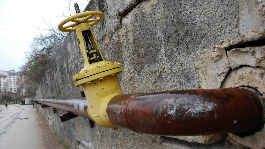 Un pipe-line de gaz à Sébastopol en Crimée