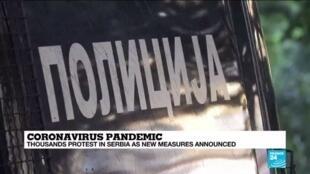 2020-07-08 13:08 Fresh lockdown looming, Serbians express anger at handling of crisis