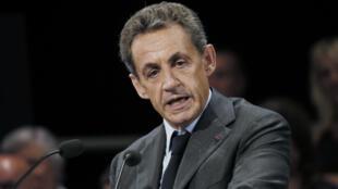 Nicolas Sarkozy, le 12 septembre 2016, lors d'un meeting à Provins.