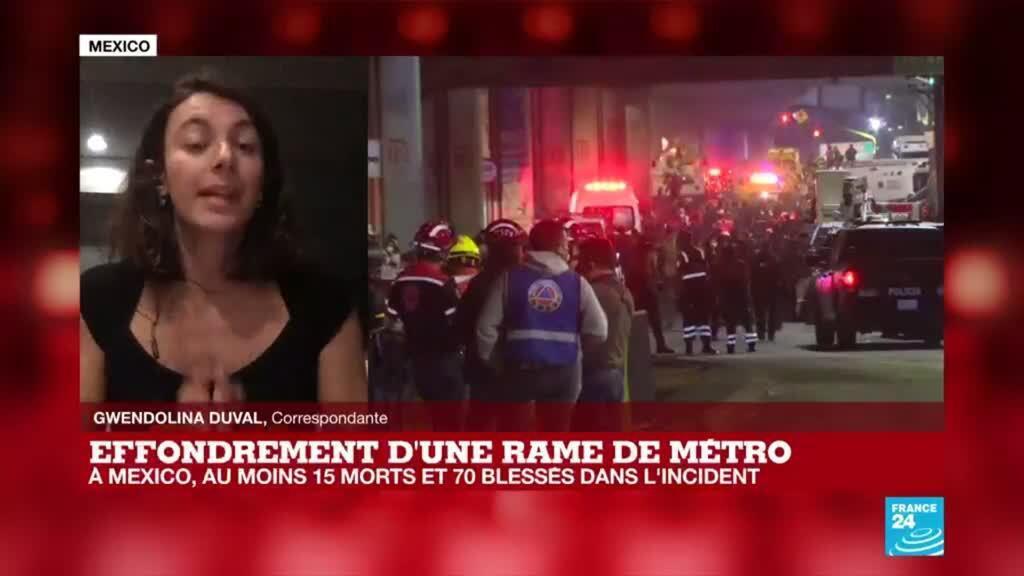"""2021-05-04 08:01 Effondrement d'un pont à Mexico : """"on ignore les causes de l'accident"""""""