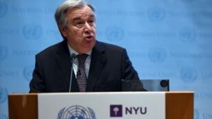 الأمين العام للأمم المتحدة أنطونيو غوتيريس.