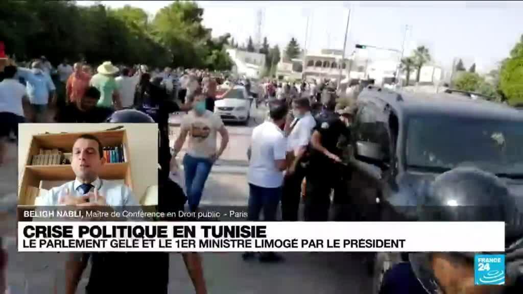 2021-07-26 12:03 Crise en Tunisie: armée déployée et affrontements devant le Parlement après sa suspension