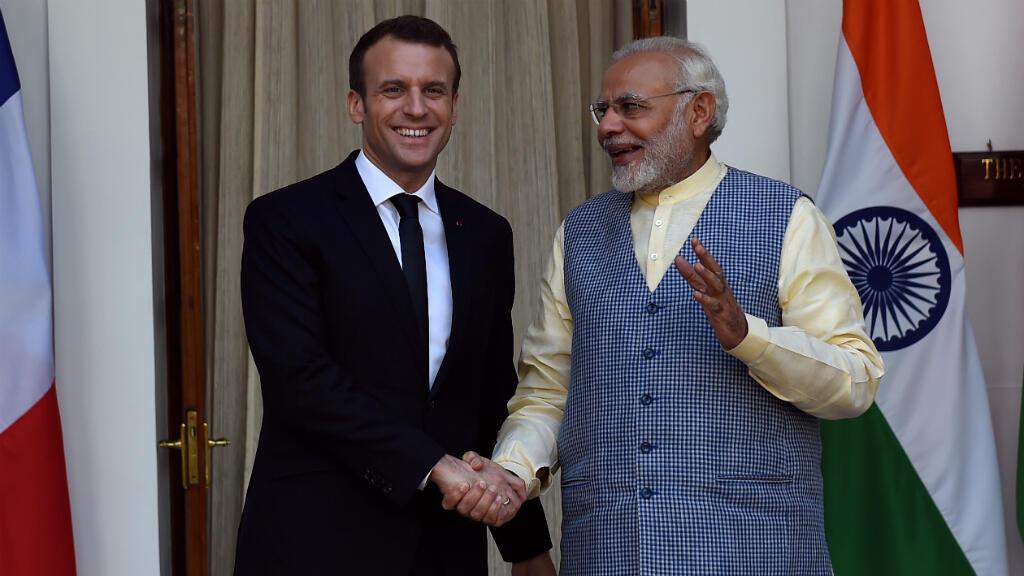 مباشر: مؤتمر صحفي لإيمانويل ماكرون ورئيس الوزراء الهندي ناريندرا مودي