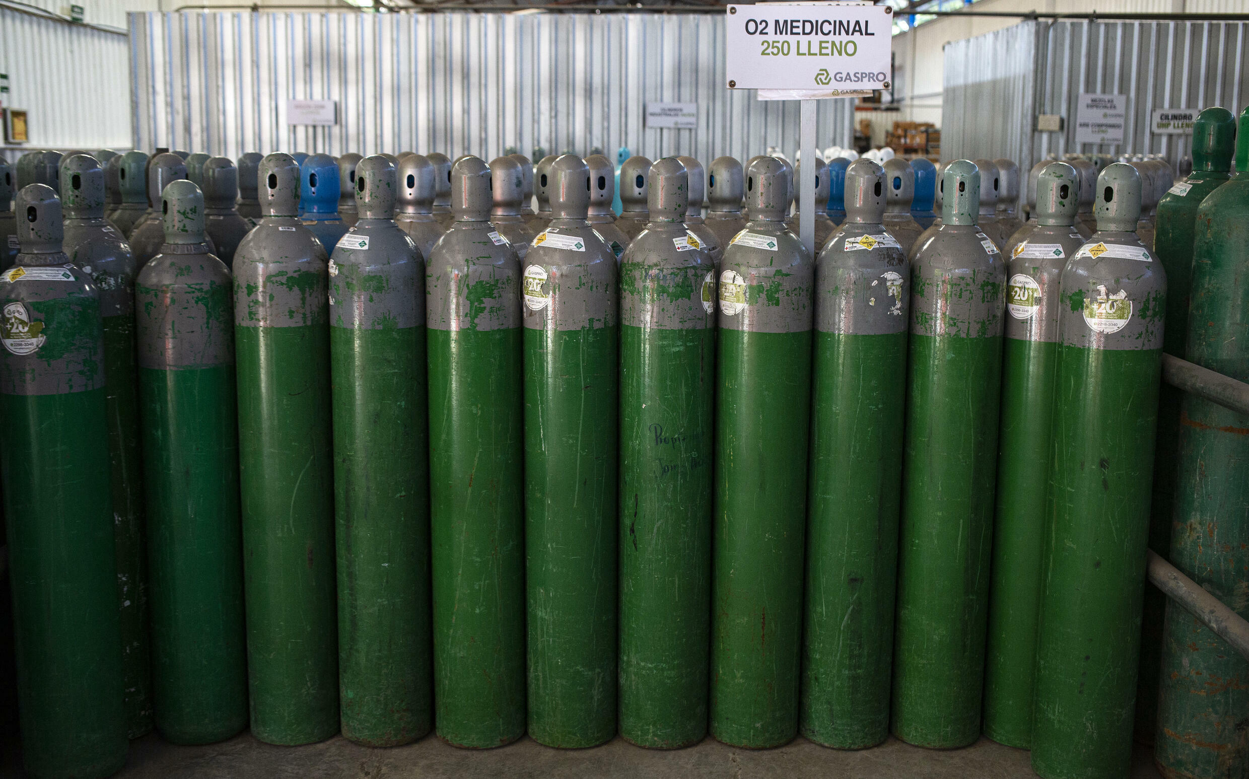 Oxygen tanks have been missing for weeks