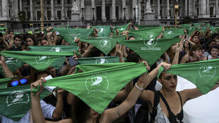 مظاهرة في ساحة الكونغرس في بيونس آيرس، 13 يونيو/حزيران 2018