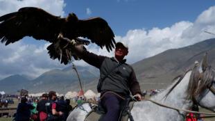 Parmi les épreuves organisées, des concours de chasse à l'aigle.