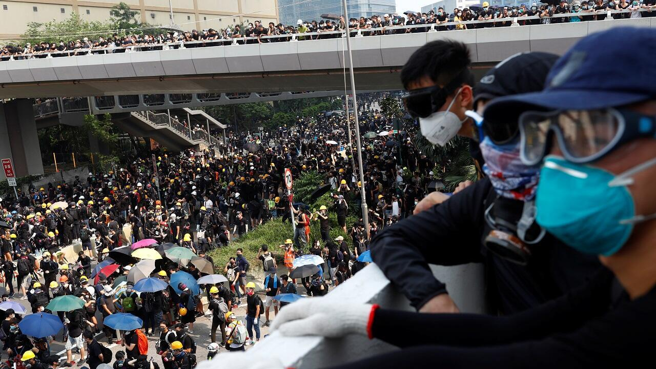احتجاجات مطالبة بالديمقراطية في هونغ كونغ. 24 أغسطس/آب 2019.