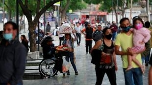 Amenities and businesses were shut for the second time this weekend due to overcrowding over the last few days, as the Covid-19 outbreak continues in Mexico City, Mexico, July 4, 2020.