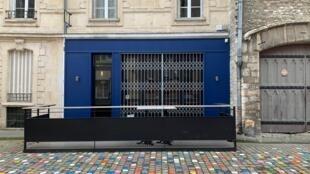 """Le restaurant """"Sacré Burger"""" à Reims, fermé en raison du coronavirus, le 16 mars 2020."""