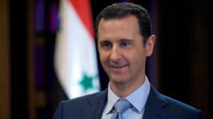 Bachar al-Assad, le 8 février dernier lors d'un entretien accordé à la BBC