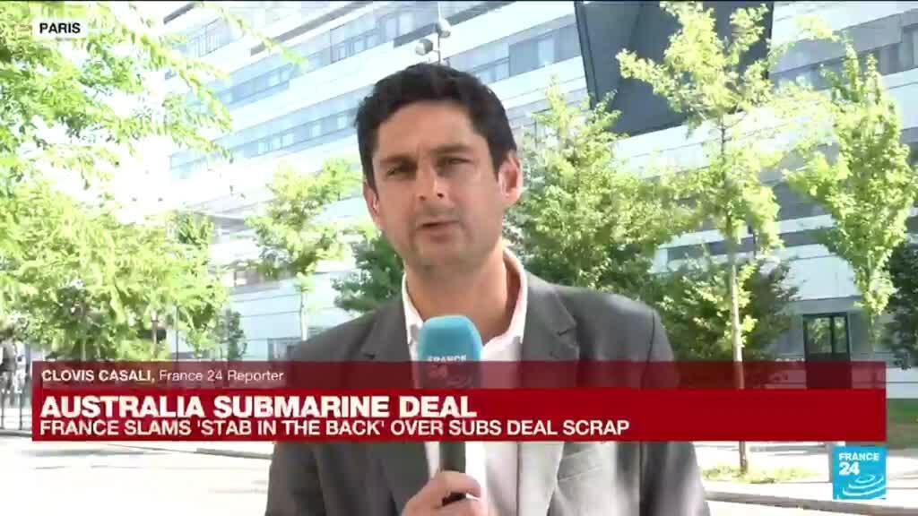 2021-09-16 13:02 Australia submarine deal: France lambasts Australia, US after 'stab in back'