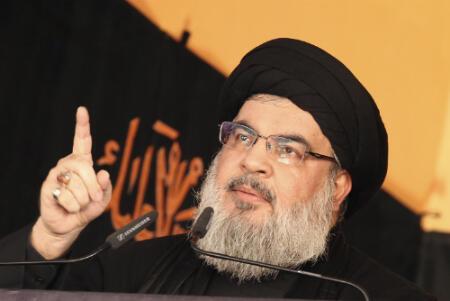 Hassan Nasrallah, le chef du Hezbollah photographié lors de l'une de ses rares apparitions en public, en 2015.
