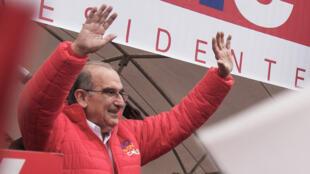 Humberto de la Calle, representante del Partido Liberal para el proceso electoral presidencial de Colombia. Mayo 24 de 2018.
