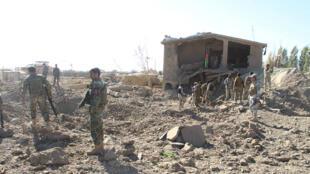 صورة لموقع تفجير انتحاري سابق بولاية باكتيا الأفغانية في 2017
