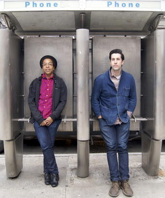 Directors Lyric Cabral and David Felix Sutcliffe. © Sophie Pilgrim, FRANCE 24.