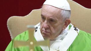 El Papa Francisco es visto durante el último día de la reunión de varios días sobre la crisis mundial de abuso sexual, en el Vaticano, 24 de febrero de 2019.
