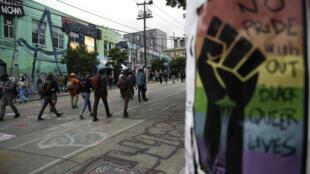 متظاهرون في شوارع مدينة سياتل