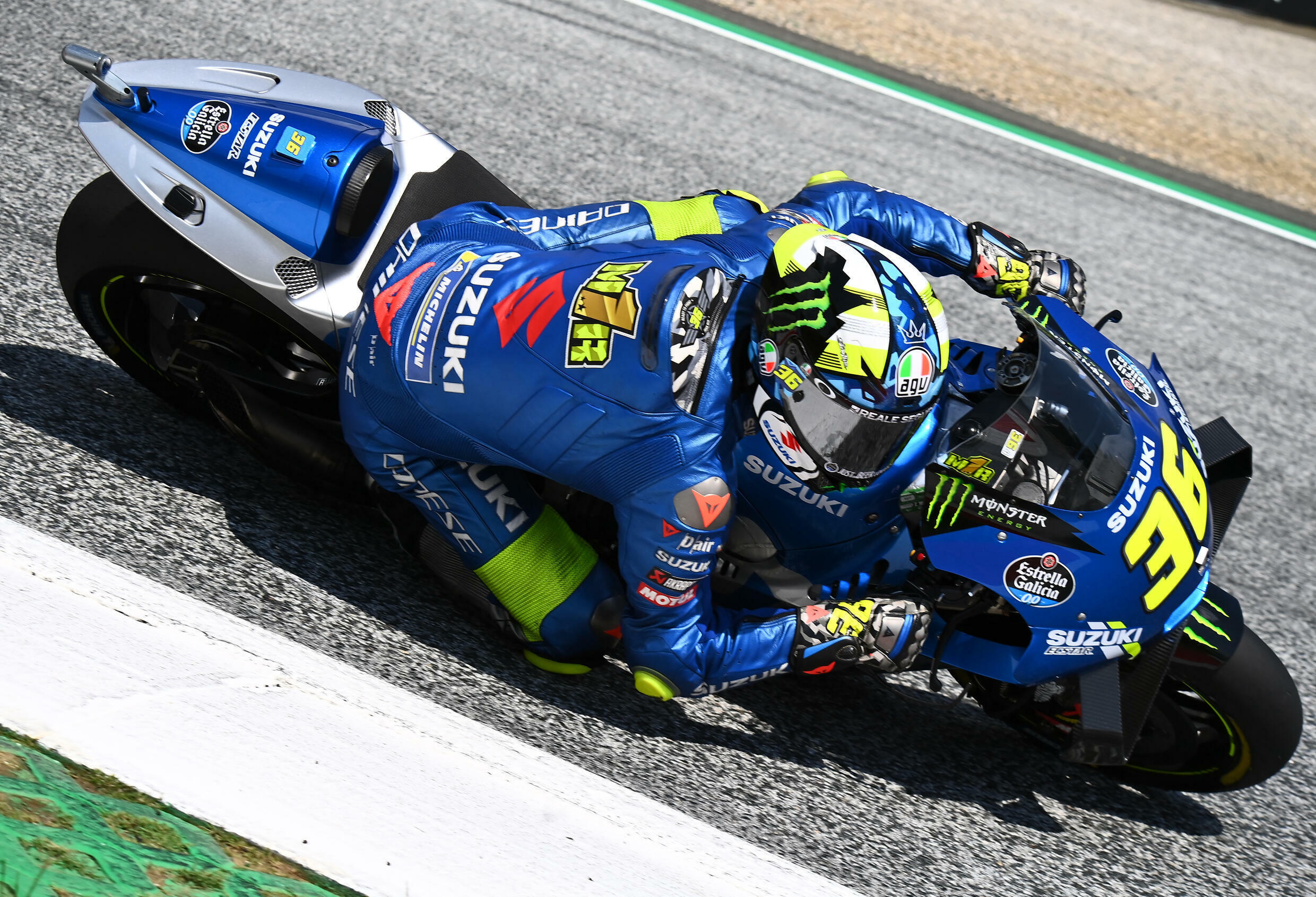 Spanish rider Joan Mir, rides in his Suzuki, during qualifying for the Austrian Grand Prix motorcycle race, August 14, 2021 at the Red Bull Circuit in Spielberg.
