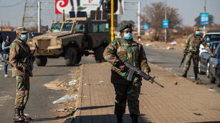 South Africa soldiers unrest